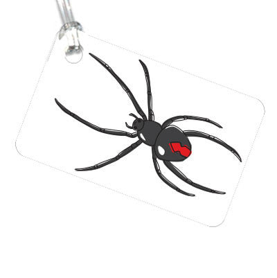 Australian Made Gifts & Souvenirs with the Red Back Spider Luggage Tag -by Bits of Australia. For the best Australian online shopping for a Luggage Tag