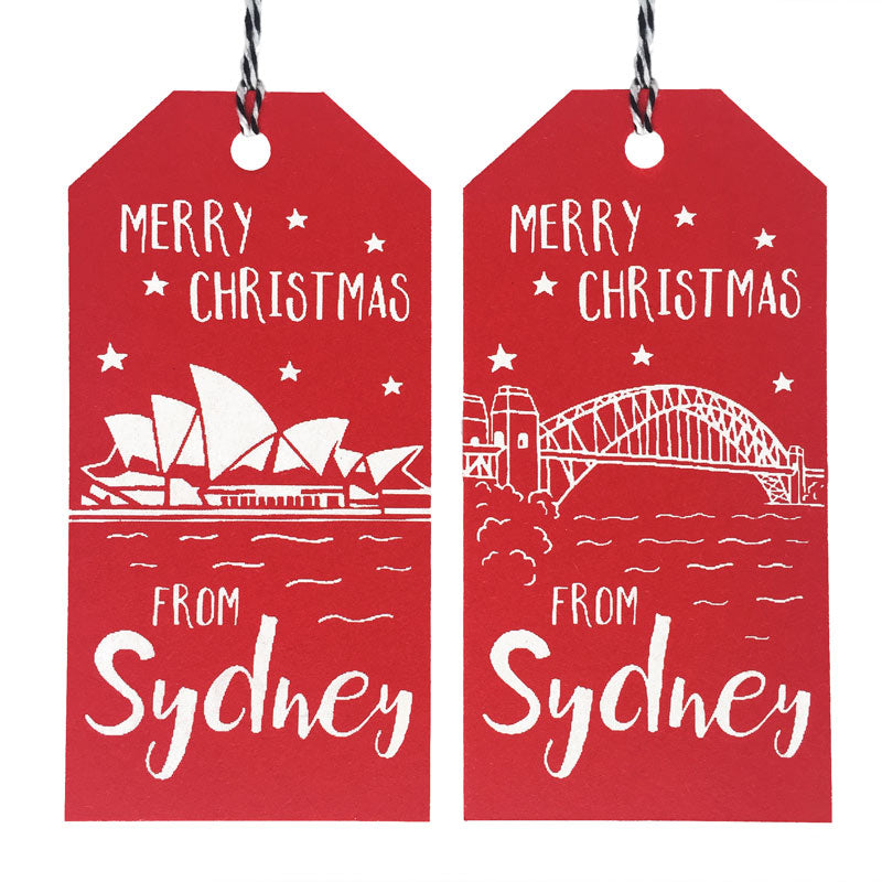 Sydney Christmas Cards - Opera House & Harbour Bridge Tags