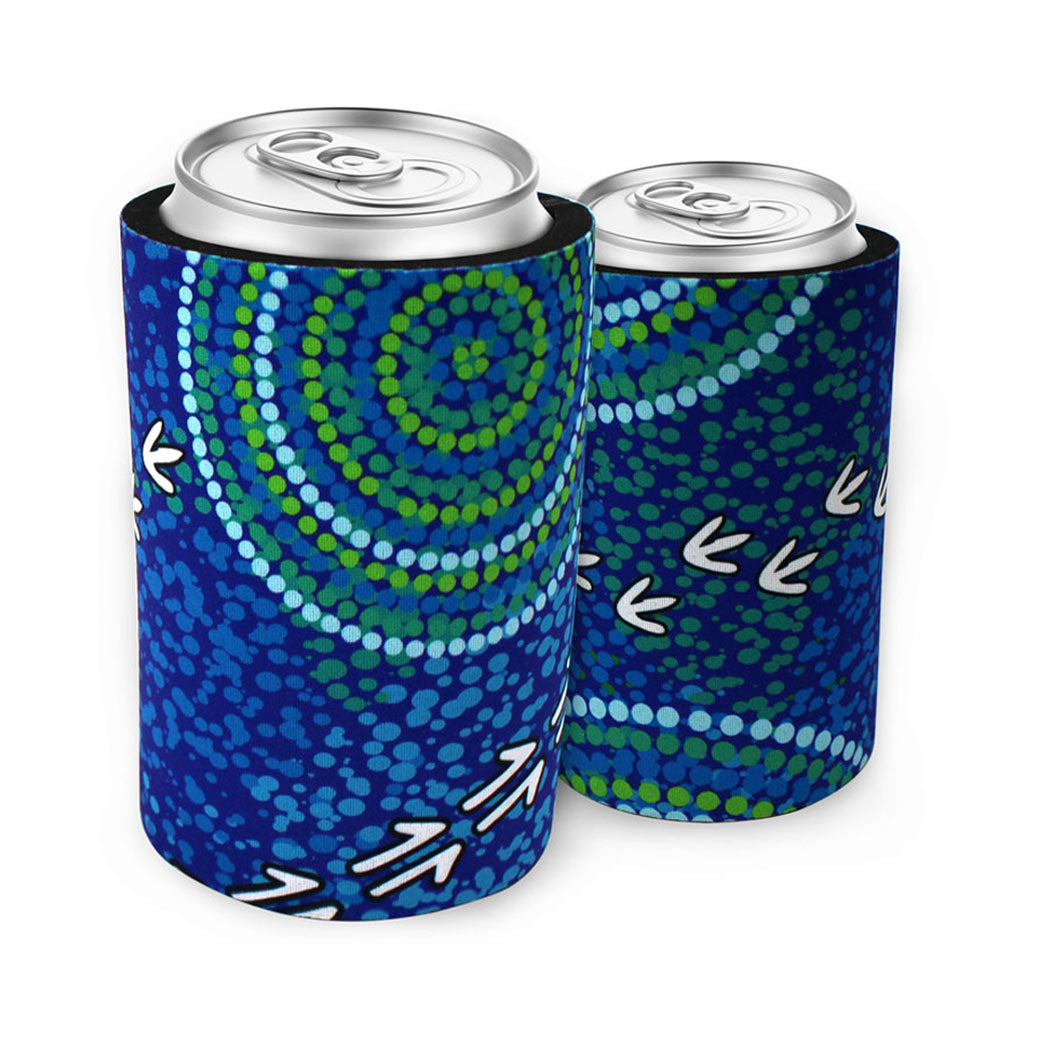 Souvenir Can Cooler from Australia with Authentic Indigenous Designs