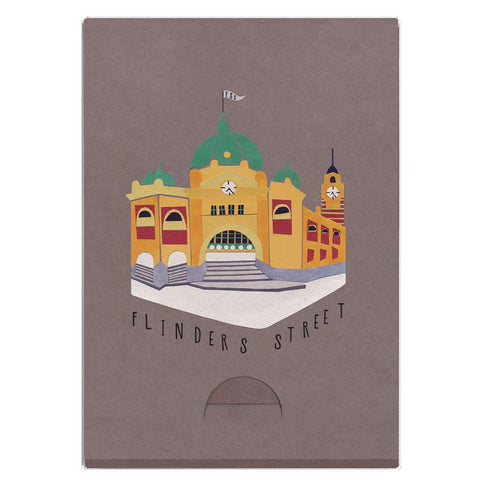 Australian Made Gifts & Souvenirs with the Flinders Street Pocket Note Pad -by Sunday Papers. For the best Australian online shopping for a Note Pads - 1