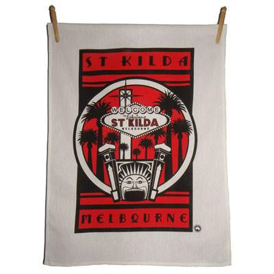 Australian Made Gifts & Souvenirs with the St Kilda Luna Park Tea Towels -by Kirsten Haworth Textiles. For the best Australian online shopping for a Souvenirs - 1