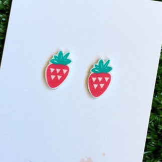 Australian Made Gifts & Souvenirs with the Strawberry Earrings -by Apooki. For the best Australian online shopping for a Accessories