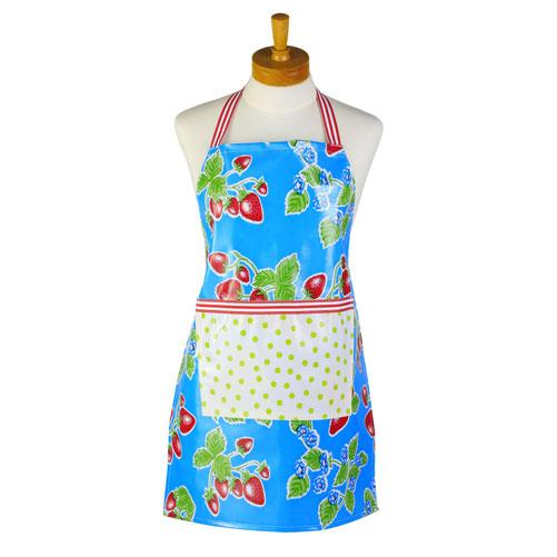 Blue Strawberry Kids Apron