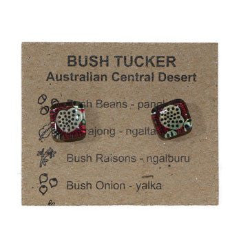 Australian Made Gifts & Souvenirs with the Stud Bush Tucker Earrings -by Simone Dennis. For the best Australian online shopping for a Jewellery