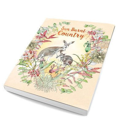 Australian Made Gifts & Souvenirs with the Sunburnt Country Notebook -by La La Land. For the best Australian online shopping for a Note Pads