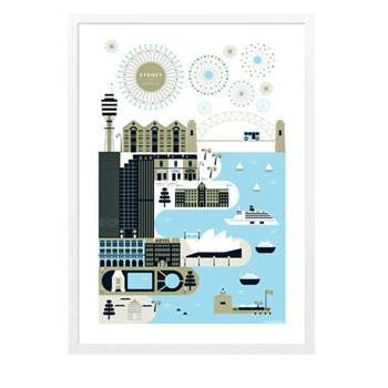 Australian Made Gifts & Souvenirs with the Sydney Superplaces Poster -by Supertrooper. For the best Australian online shopping for a Art Work