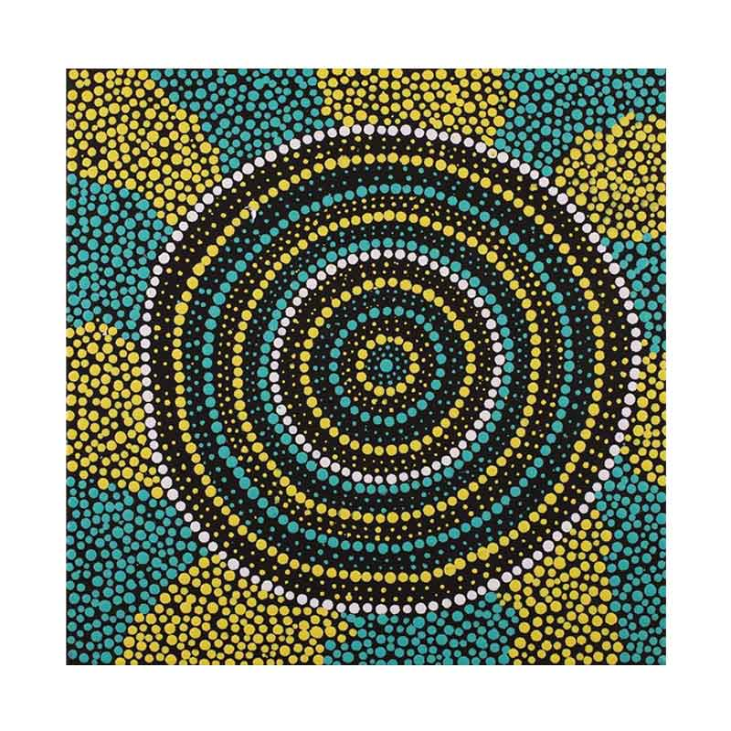 Buy Australian Aboriginal Art Online - Green Yellow Black Sydney