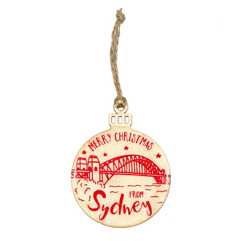 Sydney Themed Christmas Decoration Shop Online or in Balmain