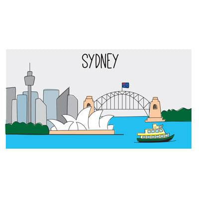 Australian Made Gifts & Souvenirs with the Large Sydney Magnet -by Bits of Australia. For the best Australian online shopping for a Stationery - 1