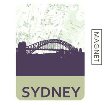 Australian Made Gifts & Souvenirs with the Sydney Skyline Magnet -by Mokoh Design. For the best Australian online shopping for a Accessories