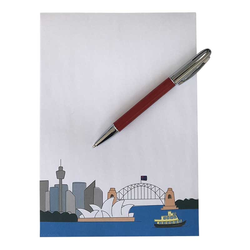 Sydney Souvenir Notepad Made in Australia
