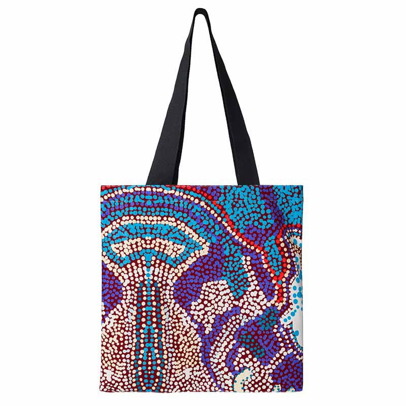 Australian Ethical Gifts for Women - Aboriginal Art Tote Bag by Elaine Lane