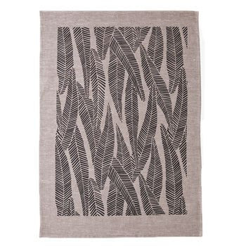 Eucalyptus Tea Towel Natural / Black