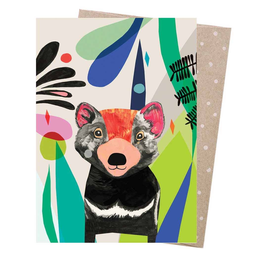 Tasmanian-Devil-Australiana-Greeting-Card