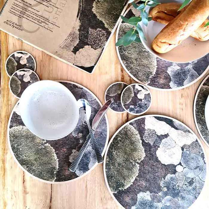 Tasmanian Made Gifts Wooden Placemats and Coaster Set