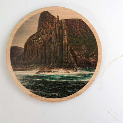 Wooden Coasters Made in Tasmana Cape Raoul