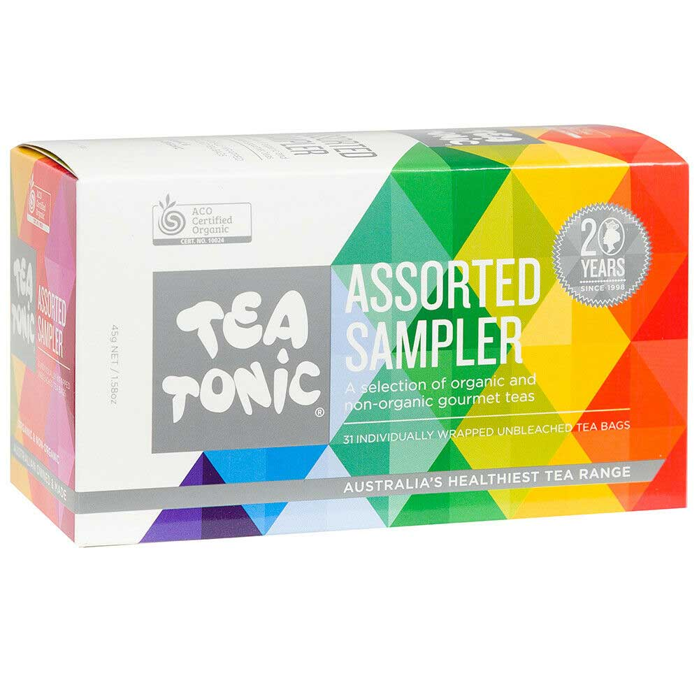 Australian Tea Lovers Gifts - Assorted Sampler Tea Bags Perfect for Christmas