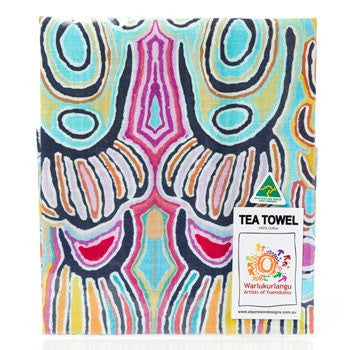 Australian Made Gifts & Souvenirs with the Judy Watson Aboriginal Tea Towel -by Alperstein Designs. For the best Australian online shopping for a Apron - 2