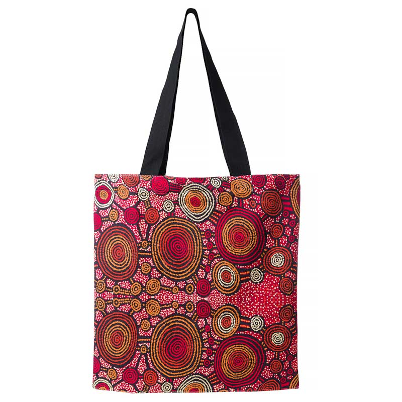 Australia Aboriginal Souvenirs - Teddy Gibson Shopping Tote Bag