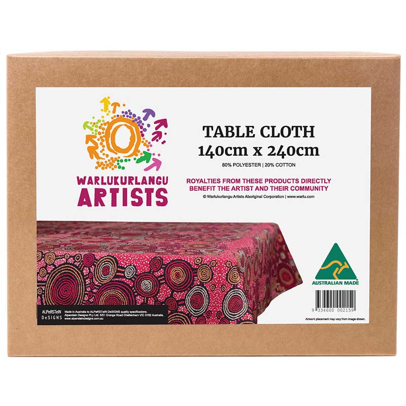 Best Australian Souvenirs - Table Cloth Made in Australia Teddy Gibbson