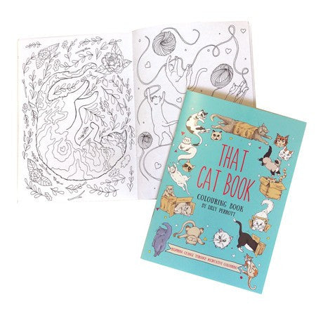 Australian Made Gifts & Souvenirs with the That Cat Colouring In Book -by La La Land. For the best Australian online shopping for a Colouring In