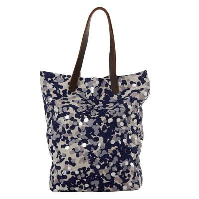Navy Confetti Oversized Tote Bag