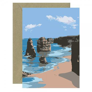 Australian Made Gifts & Souvenirs with the Twelve Apostles Greeting Card -by Mokoh Design. For the best Australian online shopping for a Accessories