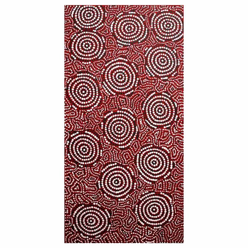 Aboriginal Art - Fire Country Dreaming 61cm x 30cm