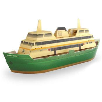 Australian Made Gifts & Souvenirs with the Sydney Ferry 3D Construction Postcard -by Odd Ball. For the best Australian online shopping for a Accessories - 1