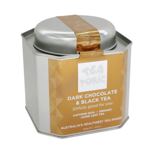 Dark Chocolate & Black Loose Leaf Tea Caddy