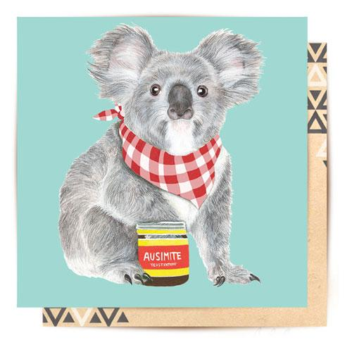 Koala & Ausimite Greeting Card