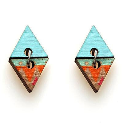 Australian Made Gifts & Souvenirs with the Halcyon Pyramid Studs -by Polli. For the best Australian online shopping for a Jewellery - 1
