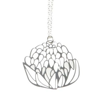 Australian Made Gifts & Souvenirs with the Small Waratah Pendant & Chain -by Polli. For the best Australian online shopping for a Accessories - 1