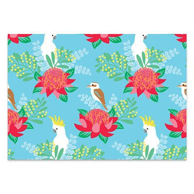 Australian Made Gifts & Souvenirs with the Waratah & Wattle Wrapping Paper -by Earth Greetings. For the best Australian online shopping for a Wrapping Paper - 1