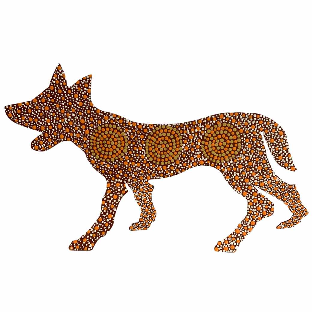 Aboriginal Art Desert Dogs from Warlukurlangu Art Centre