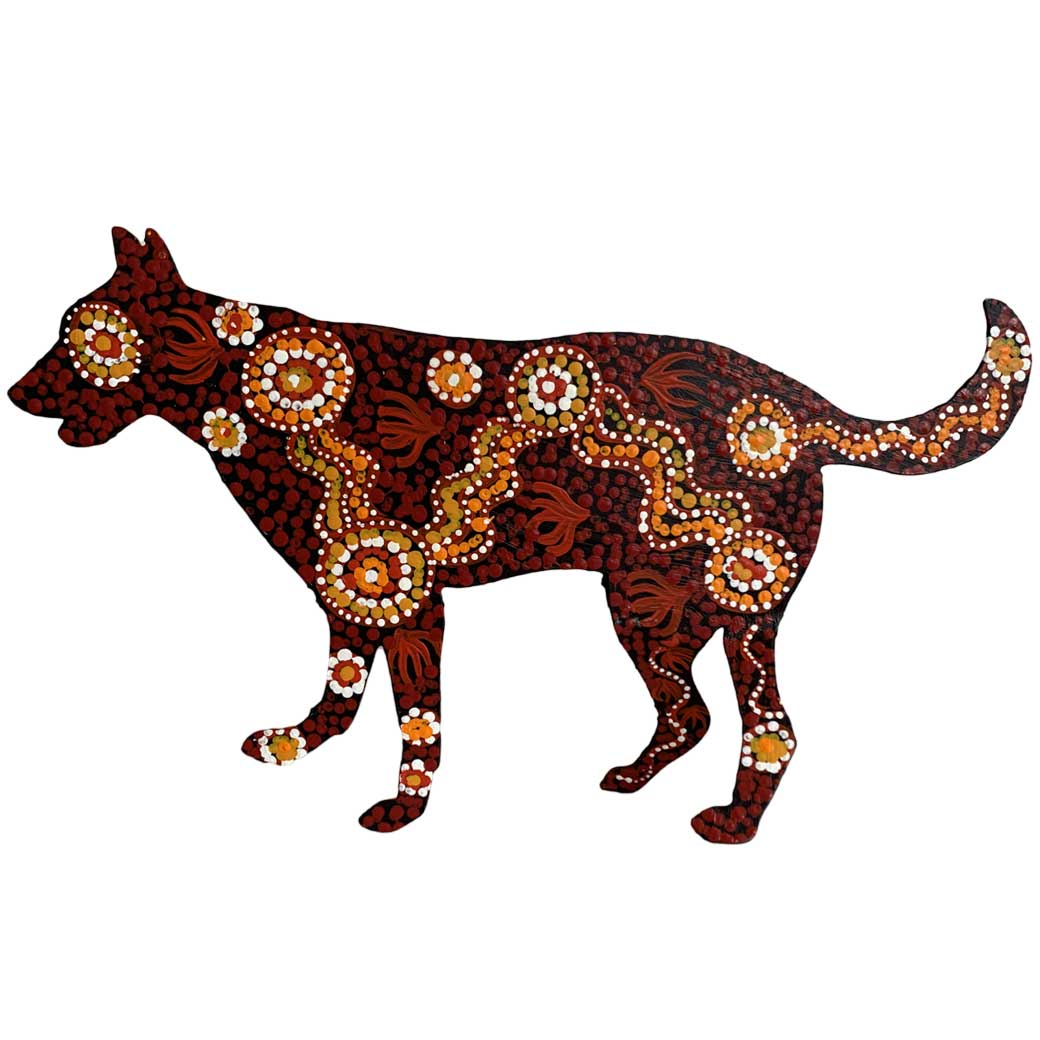 Warlukurlangu Aboriginal Art - Red Desert Dog