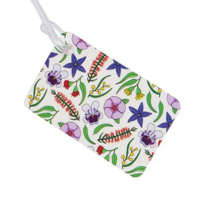 Australian Made Gifts & Souvenirs with the Australian Flowers Luggage Tag -by Bits of Australia. For the best Australian online shopping for a Luggage Tag - 1