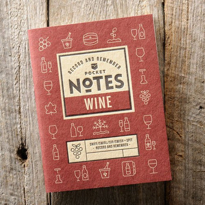 Australian Made Gifts & Souvenirs with the Wine Pocket Notes -by Wood Duck Press. For the best Australian online shopping for a Mens - 1