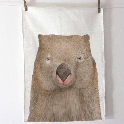 Wombat Tea Towel