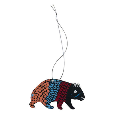 Australian Made Christmas Wombat Decoration