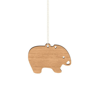 Australian Animal Christmas Decoration A Wooden Wombat For Your Tree