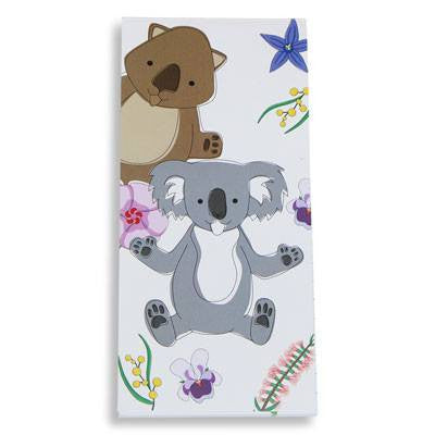 Australian Made Gifts & Souvenirs with the Koala & Wombat Notepad -by Bits of Australia. For the best Australian online shopping for a Stationery - 1