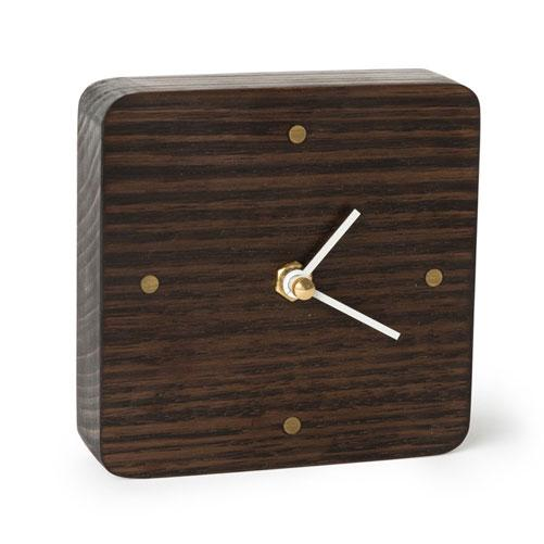 Sunrise Black Wooden Desk Clock