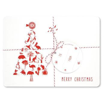 Australian Made Gifts & Souvenirs with the Christmas Tree Placemats -by Mokoh Design. For the best Australian online shopping for a Accessories