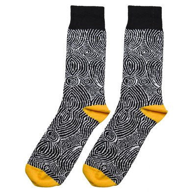 Australian made gifts for easter chocolate alternatives bits australian made gifts souvenirs with the black white aboriginal art socks by alperstein negle Gallery