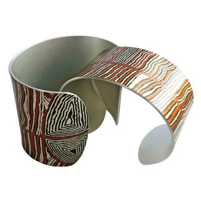 Australian Made Gifts & Souvenirs with theDesert Oak Dreaming Wide Cuff-by Occulture. For the best Australian online shopping for a Jewellery - 2