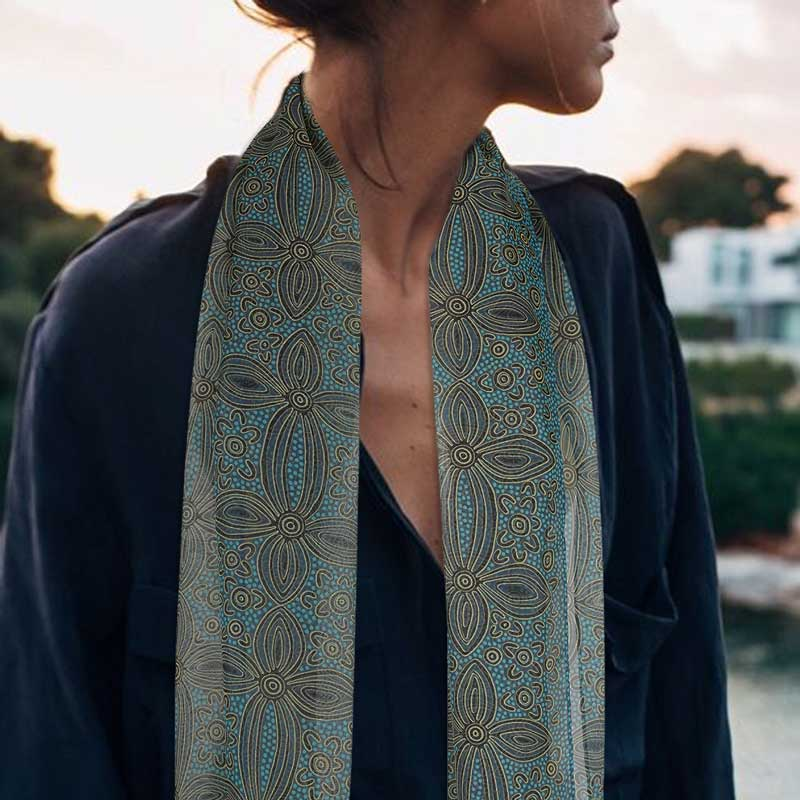 Australian Gifts for Women Chiffon Scarf - Travel Dream