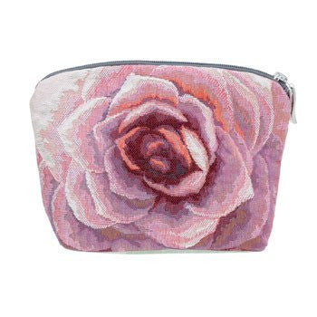 Pink Flower Cosmetic Bag