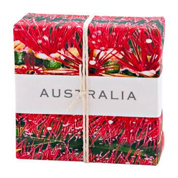 Australian Bottlebrush Wrapped Soap