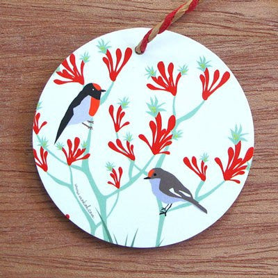 Australian Made Gifts & Souvenirs with the Christmas Robin Decoration -by Mokoh Design. For the best Australian online shopping for a Christmas